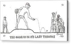 Last Throes Acrylic Print by R  Allen Swezey