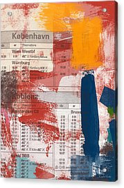 Last Train To Kobenhavn- Art By Linda Woods Acrylic Print