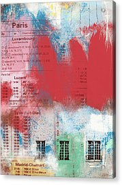 Last Train To Paris- Art By Linda Woods Acrylic Print