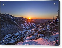 Last Winter Sunset Over Cannon Mountain Acrylic Print