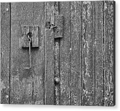 Latch On Garage Door Acrylic Print