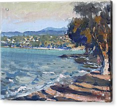 Late Afternoon At Dilesi Beach Athens Acrylic Print