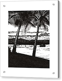 Late Afternoon At Dunk Island Acrylic Print by Monica Hudson