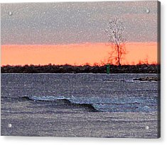 Late Afternoon By The Lake 2 Acrylic Print by Lyle Crump