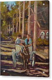 Late Afternoon Carriage Ride Acrylic Print by Charles Schaefer