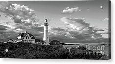 Late Afternoon Clouds, Portland Head Light  -98461 Acrylic Print