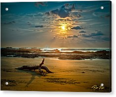 Acrylic Print featuring the photograph Late Afternoon Costa Rican Beach Scene by Rikk Flohr
