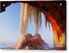 Acrylic Print featuring the photograph Late Afternoon In An Ice Cave by Larry Ricker