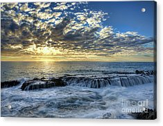 Acrylic Print featuring the photograph Late Afternoon In Laguna Beach by Eddie Yerkish