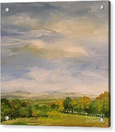 Late Afternoon In Vermont  Acrylic Print by Laurie Rohner