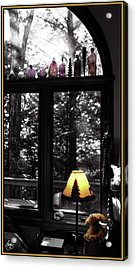 Acrylic Print featuring the photograph Late Afternoon Light Across Arch Window by Wayne King