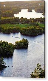 Late Afternoon On Lake Megunticook, Camden, Maine -43988 Acrylic Print