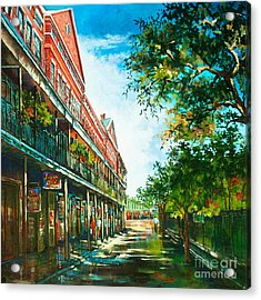 Late Afternoon On The Square Acrylic Print by Dianne Parks