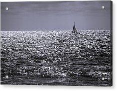 Sailboat Off The Coast At San Diego Acrylic Print