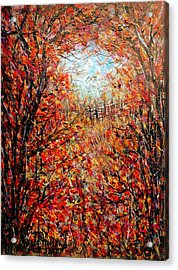 Late Autumn Acrylic Print by Natalie Holland