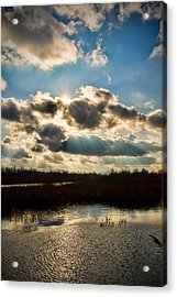 Late Evening By The River Acrylic Print by Michel Filion