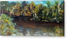 late in the Day on Blue Creek Acrylic Print