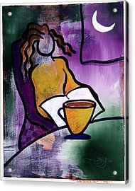 Acrylic Print featuring the digital art Late Night With Java Lady by Lucas Boyd
