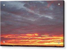 Late Prairie Sunrise Acrylic Print