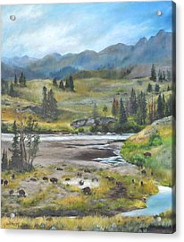 Late Summer In Yellowstone Acrylic Print