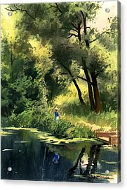 Acrylic Print featuring the painting Late Summer by Sergey Zhiboedov