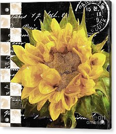 Late Summer Yellow Sunflowers II Acrylic Print by Mindy Sommers