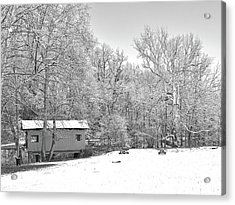 Acrylic Print featuring the photograph Late Winter Snowfall In Western Pennsylvania by Digital Photographic Arts