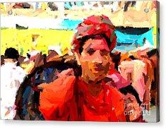 Lathmaar Holi Of Barsana-1 Acrylic Print