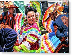 Acrylic Print featuring the photograph Latino Street Festival Dancers by Robert Bellomy
