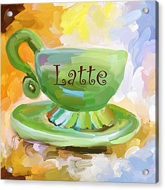 Latte Coffee Cup Acrylic Print