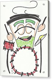 Latte Drummer Acrylic Print by Loretta Nash