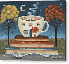 Latte Library  Acrylic Print