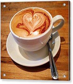 Latte Love Acrylic Print