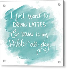 Lattes And Draw Acrylic Print