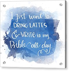 Lattes And Write Acrylic Print
