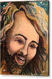 Laughing Jesus Acrylic Print