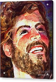 Laughing Jesus Acrylic Print by Reveille Kennedy