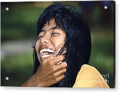 Acrylic Print featuring the photograph Laughing Out Loud by Heiko Koehrer-Wagner