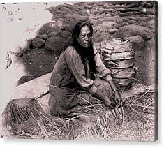 Acrylic Print featuring the photograph Lauhala Weaver by Pg Reproductions
