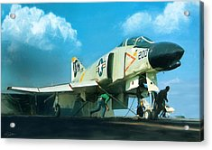 Launch The Bones Acrylic Print by Peter Chilelli
