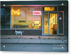 Laundromat Open Acrylic Print by Steve Augustin