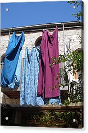 Acrylic Print featuring the painting Laundry Art by Esther Newman-Cohen