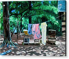 Laundry Day 1800 Acrylic Print by Stan Hamilton