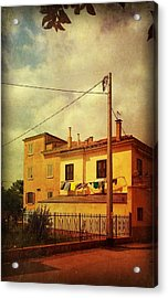 Acrylic Print featuring the photograph Laundry Day by Anne Kotan