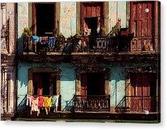 Laundry Day In Havana Acrylic Print