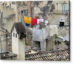 Laundry Day In Matera.italy Acrylic Print