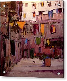 Laundry Day In Venice Acrylic Print