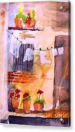 Laundry Day Acrylic Print by Sandi Stonebraker