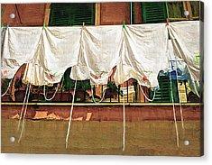 Laundry Day The Italian Way Acrylic Print by Lynn Andrews