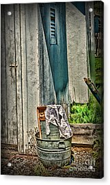 Laundry Day The Old Fashion Way Acrylic Print by Paul Ward